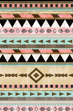 Southwestern Tribal Pattern Art Print by RebekahEDesigns   Society6