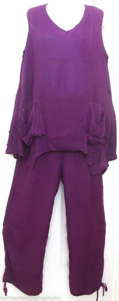 2 Piece Crinkle Yoga Harem Lounge Drawstring Pants Uneven Hem Tunic Top Set