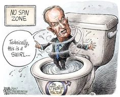 Adam Zyglis - The Buffalo News - Bill O'Reilly COLOR - English - bill oreilly, fox news, sexual harassment, women, no spin zone, swirl, racism, controversy, scandal, advertisers, media
