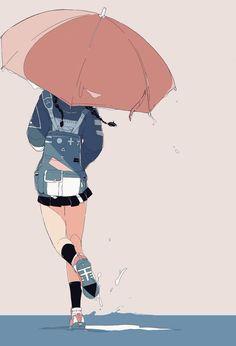Boda Tutorial and Ideas Cartoon Kunst, Cartoon Art, Art And Illustration, Aesthetic Art, Aesthetic Anime, Kawaii Anime, Arte Peculiar, Dibujos Cute, Anime Scenery