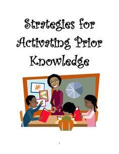 Strategies for activating prior knowledge by Alona Rose Jimenea via slideshare