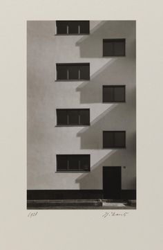 Artwork page for 'Detail Kalkerfeld settlement, Cologne Werner Mantz, printed 1977 Harlem Renaissance, Art Bauhaus, New Objectivity, Art Deco, Built Environment, Light And Shadow, Textures Patterns, Black And White Photography, Light In The Dark