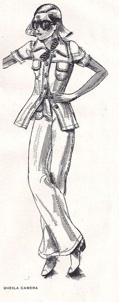 Fashion illustrations from 1974