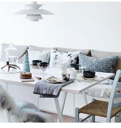 Bank bij de eettafel creëert ruimte in jouw eethoek | Interieur design by nicole & fleur ❥