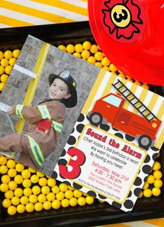 Firetruck Party Invitation - Firetruck Birthday - DIY Printable by Amanda's Parties To Go