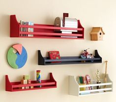 """via pottery barn kids. """"collector's racks"""" range from $39-62. Strongly resemble the cd crates from joann fabrics."""