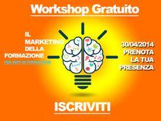 Ultimi due giorni per registrarsi al #Workshop ad accesso #gratuito sul #marketing della #formazione. Organizzato da ExpoTraining La Fiera Della Formazione - 30/04/2014 - http://www.expotraining.it/workshop-gratuiti-enti-formazione.html