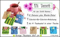 Stickmuster - ITH-Stickdateien Teezeit 13 x18 Rahmen - ein Designerstück von difigDany bei DaWanda