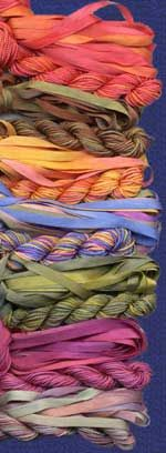 silk thread & embroidery floss for lace and embroidery silk ribbon for jewelry, by treenwaysilks.com