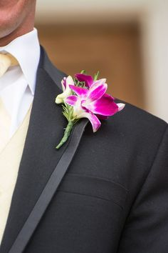 Hot Pink Floral Boutonniere - PHOTO SOURCE • OPEN APERTURE PHOTOGRAPHY | Featured on WedLoft