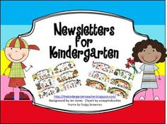 check out these adorable newsletters for your kindergarten classroom