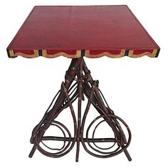 Paint-Decorated Twig Table, circa 1900 | 1stdibs.com