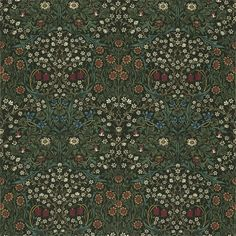 Morris & Co - Blackthorn. £ per metre Blackthorn Fabric by Morris & Co., suitable for curtains, cushions and upholstery. Wallpaper Online, Wallpaper Samples, Fabric Wallpaper, Pattern Wallpaper, Antique Wallpaper, Craftsman Fabric, Craftsman Wallpaper, William Morris, Painted Rug