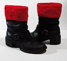Basket-weave Boot Covers Difficulty: intermediate/advanced beginner