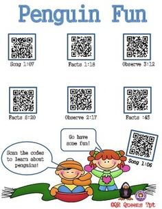 FREEBIE!!! Check out this freebie to see how our QR Code products work. Your students will have so much fun learning! Exploring Penguin Fun with QR Codes by QR QUEENS