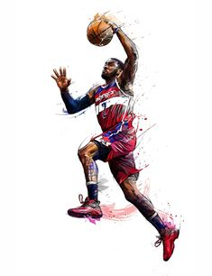 My work of painting and illustrations for the brand ENTERBAY and the NBA. My work of painting and illustrations for the brand ENTERBAY and the NBA. Basketball Tattoos, Basketball Pictures, Basketball Legends, Sports Basketball, Sports Art, Basketball Players, Basketball Birthday, Basketball Gifts, Jordan Basketball