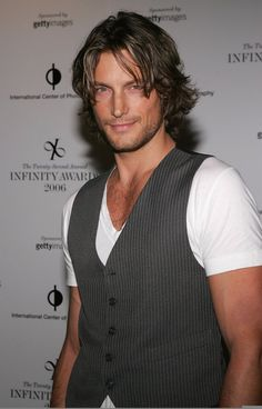 Canadian male model Gabriel Aubry