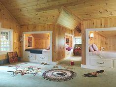 Tupper Lake lodge rental - Bunkroom with 6 built-in beds