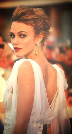 Keira Knightley ♥ Messy up-do that I've never been able to achieve.