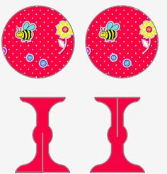 Bees: Free Printable Mini Cupcake Stand.