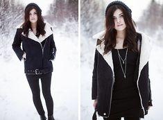 Sheinside Winter Coat, Ur&Penn Necklace