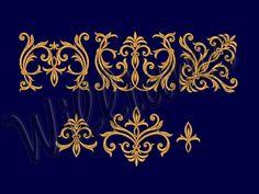 "Machine Embroidery Designs Set ""Patterns for Borders"". Machine Embroidery Applique, Embroidery Files, Beaded Embroidery, Embroidery Patterns, Pansies, Daffodils, Stencils, My Design, Ornament"