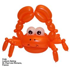 Orange entries Balloon Crab Ludovic Epting  St. Paul Les Romans, France