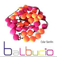 Collier Orange rose Balbucio