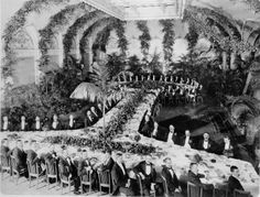 CORPORATE OPULENCE: Dinner on the creation of the United States Steel Corporation, 1901.