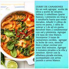 Curry de camarones en #RutaOasis @OasisFMChile Curry, Pasta, Wok, Work On Yourself, Twitter, Cooking, Dinner Ideas, Recipes, Drinks