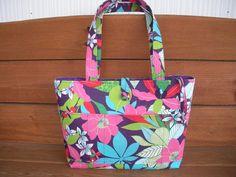 Fabric Handbag Purse Tote Bags Summer Fashion by creationsbyellyn, $22.50