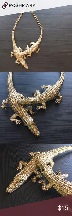 Edgy Croc Necklace! Unique Croc Necklace! Jewelry Necklaces