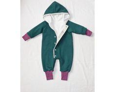 Kapuzen-Overall Baby // hoodie overall for babies by Garn-nele via DaWanda.com
