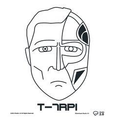 Terminator: T-R7PI #dblackhand #studio2.0 #platamala #poster #vector #terminator #design #graphic  #icon #icono #T-r7pi