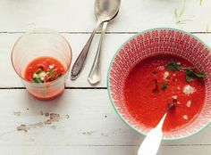 Chilled watermelon, tomato & almond soup (4 to 6) 2 cups diced ...