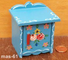 DORA KUHN NIGHT CUPBOARD CABINET DOLL HOUSE 1:12 BAUER BAUER PUPPENSTUBE PAINTING   eBay