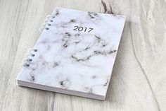 Planner 2017 Marbled planner notebook Monthly by FavouriteNotebook