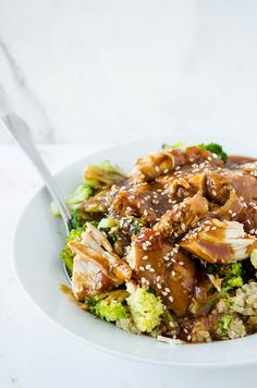 Slow Cooker Sesame Garlic Chicken | cooking ala mel by cookingalamel, via Flickr