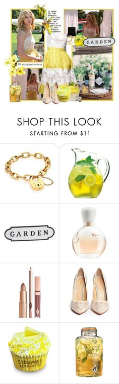"""""""garden party"""" by sasane ❤ liked on Polyvore featuring Michael Kors, Luigi Bormioli, Pottery Barn, Lacoste, Charlotte Olympia and Home Essentials"""
