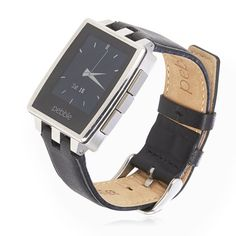 507267 Pebble Steel Smart Watch with Instant Wrist Notifications QVC Price:£119.50 + P&P: £5.95 The Pebble Steel Smart Watch is crafted from stainless steel and features a sleek E-Paper display so you can easily read it in the sun or in the dark, Bluetooth, a USB charging port and pairs up with your smart phone via Bluetooth to bring texts, tweets and other app notifications right to your wrist. Stay connected to what's important with this clever device from Pebble.