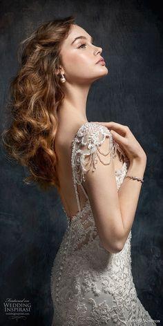 8bc2113bcbfc kenneth winston fall 2017 bridal cap sleeves sweetheart neckline full  beaded embellishment elegant glamorous mermaid wedding