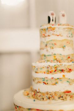 Confetti cake!  Style Me Pretty | GALLERY & INSPIRATION | GALLERY: 12209 | PHOTO: 955819