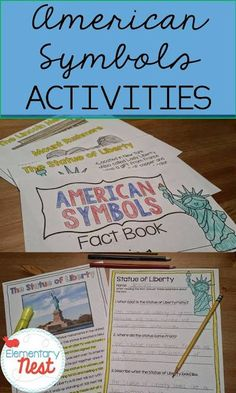 Social Studies and Reading activities for kids- American Symbols activities