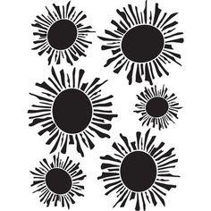 Joggles Stencil Sunshine