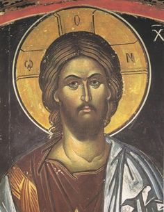 The traditional Orthodox Iconography of the Eastern Church is characterized by the Byzantine style of art from the period of the Cappadocian Fathers. Orthodox Catholic, Orthodox Christianity, Byzantine Icons, Byzantine Art, Religious Icons, Religious Art, Christ Pantocrator, Pictures Of Jesus Christ, Russian Icons