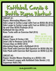 awesome A Daily Dose of Fit: Kettlebell, Cardio and Battle Ropes Workout (.plus, delicious frozen food. Kettlebell Cardio, Kettlebell Training, Kettlebell Benefits, Tabata, Battle Rope Workout, Battle Ropes, Natural Cough Remedies, Fitness Magazine, Health And Wellbeing