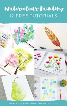 Want to learn watercolour painting? Check out these 12 free tutorials that are perfect for beginners! You'll learn anything from abstract watercolours to floral painting.