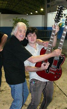 Jimmy Page and his son James