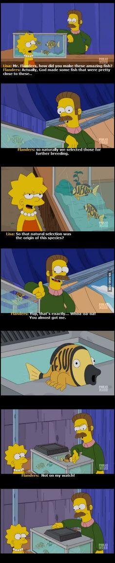 Religious humor on The Simpsons. Jesus Fish