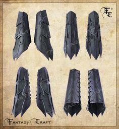 Drow or Dark Elf leather bracers by I-TAVARON-I